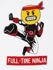 Boys Full Time Ninja Graphic Tee