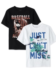 Boys Sports Graphic Tee 2-Pack