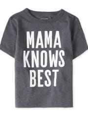 Baby And Toddler Boys Mama Knows Best Graphic Tee