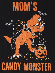 Baby And Toddler Boys Halloween Candy Monster Graphic Tee