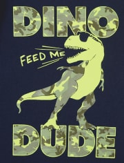 Baby And Toddler Boys Dino Dude Graphic Tee