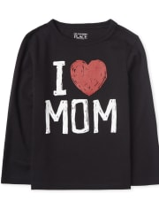 Baby And Toddler Boys I Love Mom Graphic Tee