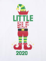 Baby And Toddler Boys Matching Family Christmas Elf Graphic Tee