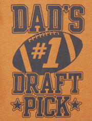 Baby And Toddler Boys Dad's Draft Pick Graphic Tee