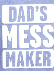 Baby And Toddler Boys Dad's Mess Maker Graphic Tee