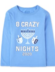 Camiseta unisex con gráfico de Hanukkah 2020 de familia a juego para bebés y niños pequeños
