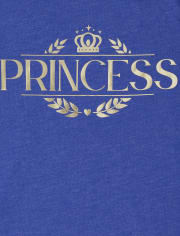 Camiseta estampada Royal Foil Family Matching para niñas