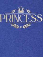 Camiseta estampada Royal Foil Family a juego para niñas
