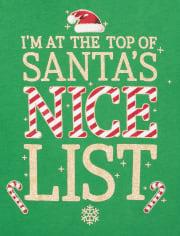 T-shirt graphique à paillettes de Noël pour fille