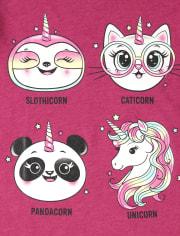 Girls Crittercorn Graphic Tee