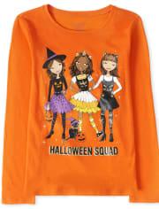 Girls Halloween Squad Graphic Tee