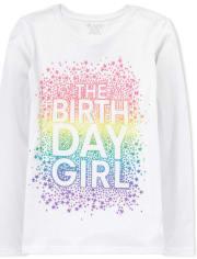 Girls Glitter Birthday Graphic Tee