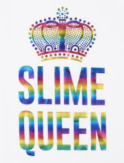 Girls Rainbow Slime Queen Graphic Tee