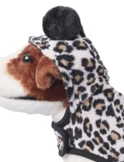 Dog Mommy And Me Leopard Fleece Matching One Piece Pajamas