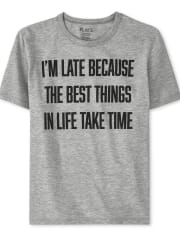 Boys I'm Late Graphic Tee