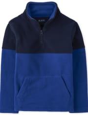 Boys Colorblock Glacier Fleece Half Zip Pullover