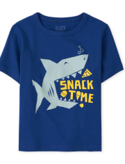 Baby And Toddler Boys Snack Shark Graphic Tee