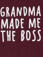 Baby And Toddler Boys Grandma Boss Graphic Tee