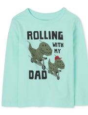 Baby And Toddler Boys Dino Dad Graphic Tee
