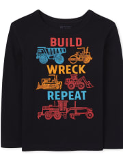 Baby And Toddler Boys Construction Graphic Tee