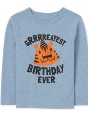 Toddler Boys Birthday Tiger Graphic Tee