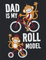 Baby And Toddler Boys Roll Model Graphic Tee