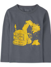 Baby And Toddler Boys Wrecking Machine Graphic Tee