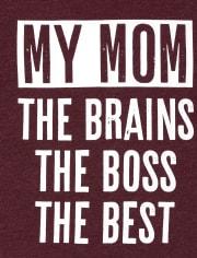 Camiseta estampada My Mom para bebés y niños pequeños