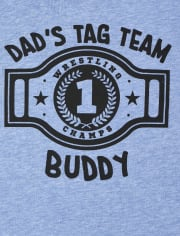 Baby And Toddler Boys Dad's Tag Team Graphic Tee