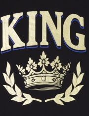Mens Matching Family Royalty Graphic Tee