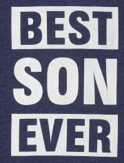 Boys Matching Family Foil Best Ever Graphic Tee