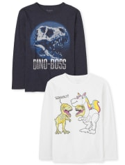 Boys Dino Graphic Tee 2-Pack