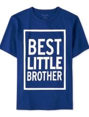 Camiseta estampada Best Little Brother para niño