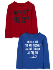Baby And Toddler Boys Mess And Mischief Graphic Tee 2-Pack
