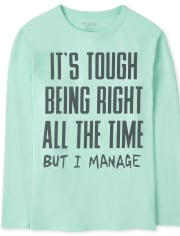 Boys Right All The Time Graphic Tee