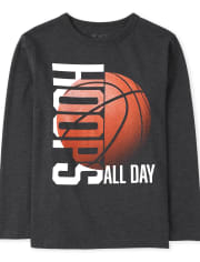 Boys Hoops All Day Graphic Tee