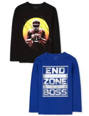 Boys Football Graphic Tee 2-Pack