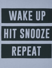 Boys Wake Up And Homework Graphic Tee 2-Pack