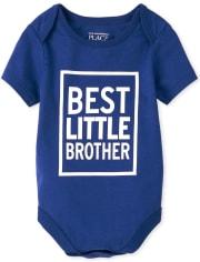 Body con estampado Best Little Brother para bebé niño