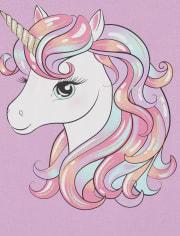 Girls Unicorn Graphic Tee