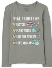 Girls Real Princesses Graphic Tee