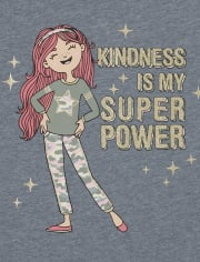 Girls Super Power Graphic Tee