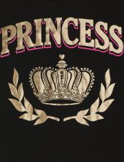 Camiseta con gráfico de realeza familiar a juego para niñas