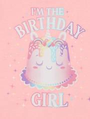 Baby And Toddler Girls Birthday Graphic Tee