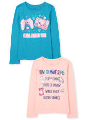 Girls Trends Graphic Tee 2-Pack