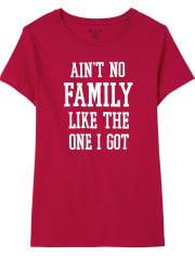 Womens Matching Family Family Graphic Tee