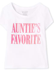Baby And Toddler Girls Auntie's Favorite Graphic Tee