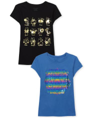 Girls Trend Graphic Tee 2-Pack