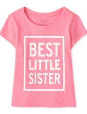 Baby And Toddler Girls Best Little Sister Graphic Tee