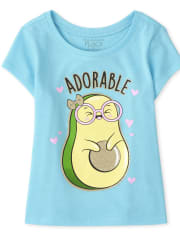 Baby And Toddler Girls Adorable Avocado Graphic Tee